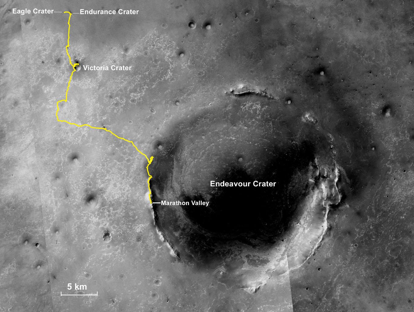 Opportunity completa sua primeira maratona em Marte